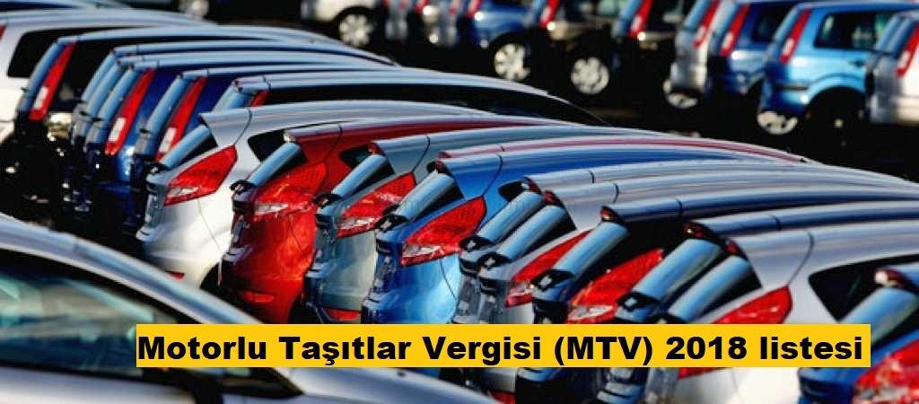 2018 Motorlu Taşıtlar Vergisi (MTV)